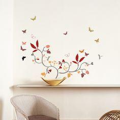 Poppies & Butterflies