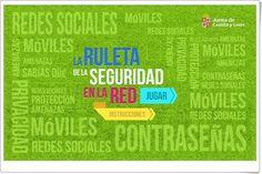 """""""La Ruleta de la Seguridad en la Red"""" es un juego tipo trivial, de la Junta de Castilla y León, que prueba el conocimiento sobre las medidas básicas de seguridad en la navegación por internet."""