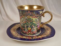 Björn Wiinblad Rosenthal 1997 Christmas Cup and Saucer