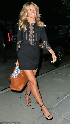 Dressed to impress! Heidi Klum, 43, put her phenomenal form on full display as she enjoyed a night out in New York City on Wednesday