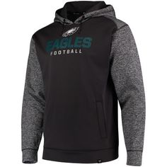efda0767c Men s Philadelphia Eagles NFL Pro Line by Fanatics Branded Black Static  Fleece Pullover Hoodie