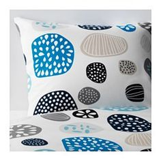 IKEA - RINGKRAGE, Duvet cover and pillowcase(s), Twin, , Concealed snaps keep the comforter in place.