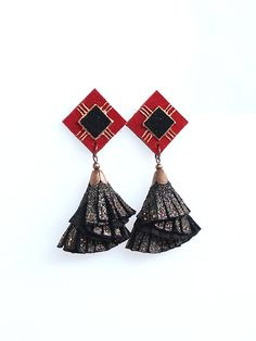 Leather Tassel Earrings Black Suede Glitter Effect Leather Leather Tassel, Leather Jewelry, Tassel Earrings, Drop Earrings, Black Suede, Tassels, Glitter, Trending Outfits, Unique Jewelry