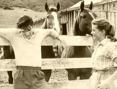 """Loving You"" Dolores Hart:, her happiest/most abiding memory of Elvis came end of a day shooting scenes in the countryside.  ""There were some horses around, it was peaceful-we were laughing and enjoying being out there. He was standing by a rail and had his arms reaching out each side of it - one hand on one side, one hand on the other.  He was laughing and he put his head back. He was looking up to the sky and he was so beautiful and real, and for a moment he just looked so peaceful."""