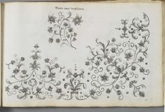 Design plate from Kunst- und Fleiss-übende Nadel-Ergötzungen (ink on woven paper), by Margaretha Helm, 1720 Object Name: German embroidery ...