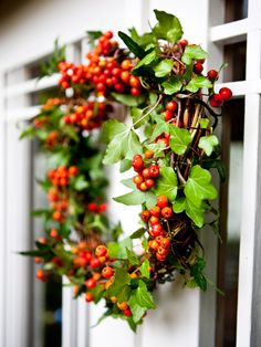 A lovely rowan berry wreath