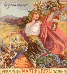 Pubblicità originale 1915 MARTINI E ROSSI Vermouth Talman Advert werbung vintage