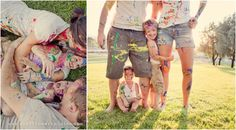 Love this painted family photo shoot