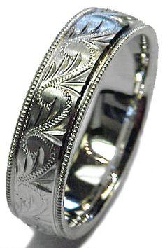 E-1364 Available in Platinum, Palladium, and White Gold #weddingrings