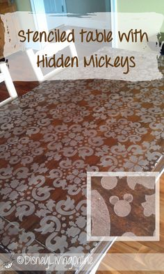 Stenciled table with hidden Mickeys