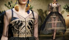 Sicilian Inspiration - Dolce Spring Summer 2013 Sicilian Folk Collection: Wicker corset dress