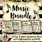 Music Decor & Organization BUNDLE: Chic & Glam by Melody Payne | Teachers Pay Teachers