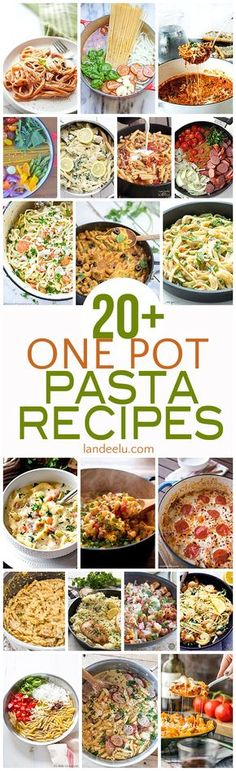Perfect for busy weeknights!  Try some of these delicious one pot pasta recipes!