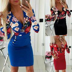 Damen gedruckt Minikleid Kleider Sling Beach Nightclub Party Bodycon Sling Kleid