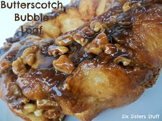 Butterscotch Bubble Loaf Recipe from SixSistersStuff.com.