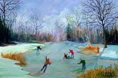 """Hockey on the Pond"" by Tom Austin"