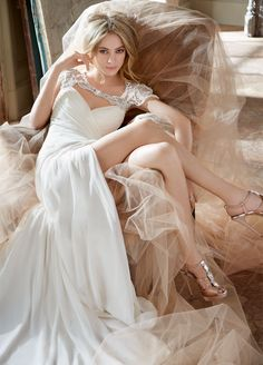 beaded wedding gown / Hayley Paige