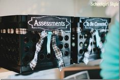 Organization In Style! Classroom Welcome, Classroom Setup, Future Classroom, Classroom Design, Classroom Rules, Preschool Classroom, Classroom Activities, Organization Station, Paper Organization