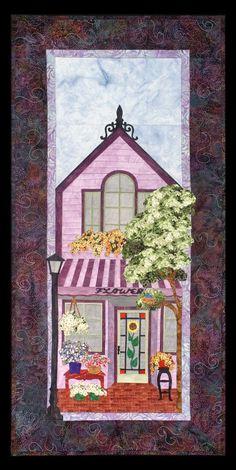 "** ""Flower Shop "" Block Of The Month Applique Quilt  @honeybeefabrics"