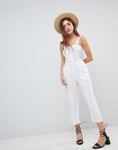 92ad5b2a792f ASOS DESIGN Jumpsuit In Broderie Fashion 2018