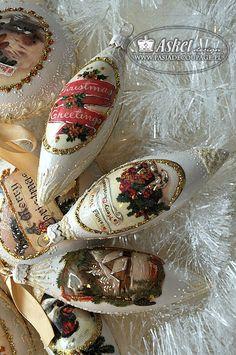 Christmas Greetings - Bombka sopel na choinkę