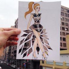 Herrliche Arbeiten präsentiert uns der aus Armenien stammende Fashion-Illustrator Edgar Artis auf seinem Instagram-Account: @edgar_artis.
