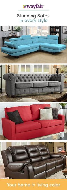 From Cool And Contemporary To Mid Century Inspired Wayfair S Sofas Complete Your Living Room