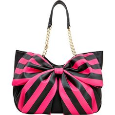 BOW TAILS SATCHEL ❤ liked on Polyvore featuring bags, handbags, white handbags, betsey johnson handbags, betsey johnson, betsey johnson purses and white bags