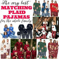 The Very Best Plaid Family Pajamas for the Whole Family! Perfect for matching Christmas pjs! #familypajamas #matchingpajamas #christmaspajamas Matching Family Christmas Pajamas, Matching Pajamas, Christmas Morning, Christmas Fun, Funny Pjs, Summer Pajamas, Plaid Pajamas, Disney Family, Christmas Pictures