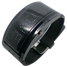 White LED Black Band Wrist Watch with 10 Character Display WTH0307 Baolihao. $16.99