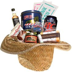 "Brides.com ""Nashville"" destination wedding basket featuring Loveless Cafe Peach Preserves, Jack Daniels and more!"