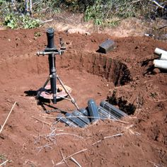 "vietnamwarera: "" 81mm mortar pit """