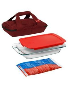 Pyrex  Red Portables Bakeware Set - Red - One Size