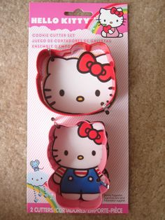 Sanrio Hello Kitty Cookie Cutter Set 2 Pcs, Birthday, Party, Wedding