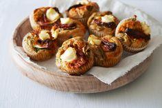 Oppskrift på Matmuffins med spinat og chevre