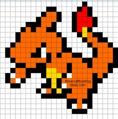 Charmander I Choose U Minecraft Pixel Art Pixel Art