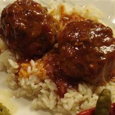 Sweet and Sour Meatballs; My husband and I LOVE this. Best meal ever