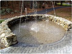 Splash pad backyard ideas I would love to have this.