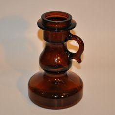 Fantastic Vintage Brown Chamberstick, candle holder, german $25