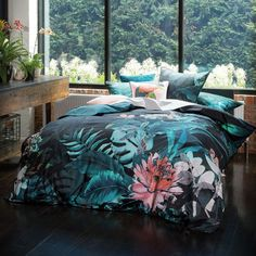 Greenhouse Teal Quilt Cover Set By Linen House Lifestyle