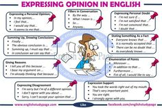 Expression opinion in English