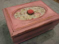 Shabby Chic Pink Jewelry Box by foreverkatydid on Etsy, $12.95