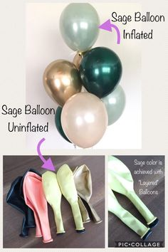 Bridal Shower Deco, Green Bridal Showers, Tropical Bridal Showers, Rose Gold Balloons, White Balloons, Mylar Balloons, Latex, Balloon Hacks, Deco Ballon
