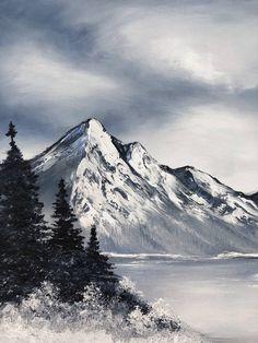 Original Landscape Painting by Daniella Gallistl Landscape Sketch, Landscape Drawings, Fantasy Landscape, Landscape Art, Watercolor Landscape Paintings, Landscapes, Mountain Sketch, Mountain Drawing, Mountain Art