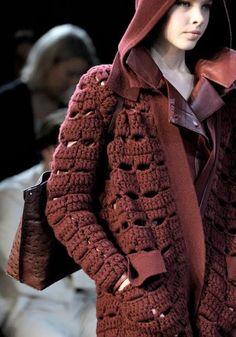 Letras e Artes da Lalá: casaco de tricô