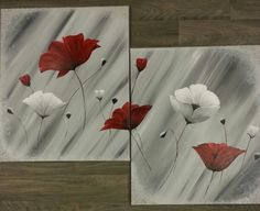 """Swaying poppies"" painted in acrylics on canvas"