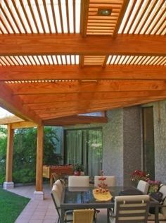 . Barbacoa, Pergola Plans, Ideas Para, Lounge, Bungalow, Beach House, Backyard, Outdoor Structures, Outdoor Decor