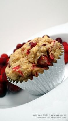 Gluten-Free, Sugar-Free, Low-Carb Cranberry Orange Muffins