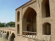 Sharestan Bridge, Sassanid foundations, 10th-11th century. Isfaphan