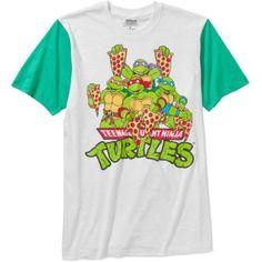 Teenage Mutant Ninja Turtle Mens Pizza Color Block Graphic Short Sleeve T-Shirt
